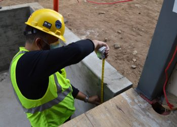elevator contractors need to check the pit prior to delivery.